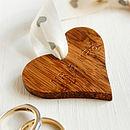 Personalised Wooden Heart Wedding Keepsake