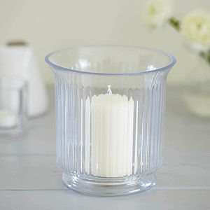 Ribbed Glass Candle Holder - lights & lanterns