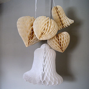 Hearts Or Bells Paper Decoration - outdoor decorations