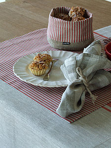 Natural Striped Linen Jazz Placemat - bed, bath & table linen