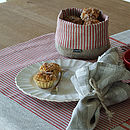 Red Natural Striped Linen Jazz Placemat
