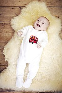 Organic Cotton London Bodysuit Or Bib
