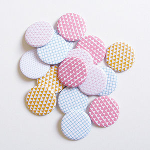 Pattern Badges - women's jewellery
