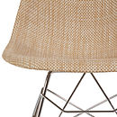 Modern Rocking Chair, Organic Coconut Basket Weave Seat