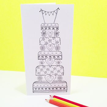 Decorate It Yourself Wedding Cake Card