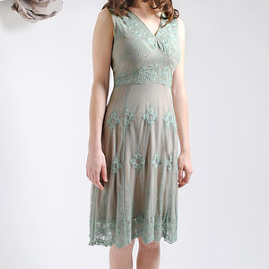 Reef Green Claudia Lace Dress