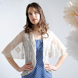 Ivory Madeline Lace Jacket - tops