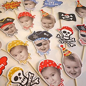 Personalised Ahoy Pirate Cake Toppers