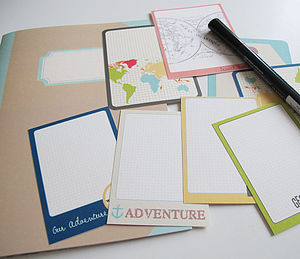 Travel Memory Journal Kit - stationery