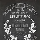Personalised Wedding Chalkboard Print