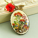 Floral Cameo Necklace