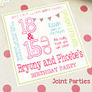 We can also do Joint party invitations