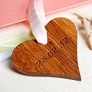 Personalised Wooden Heart Wedding Keepsake