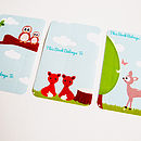 Set Of Woodland Animal Book Plate Stickers