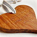 Personalised Father's Day Wooden Heart