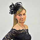 Feather And Bow Sinamay Fascinator