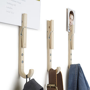 Set Of Three J Peg Coat Hooks - laundry room