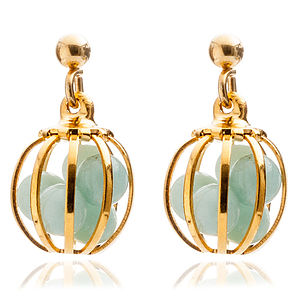 Meaningful Semiprecious Earrings - wedding fashion