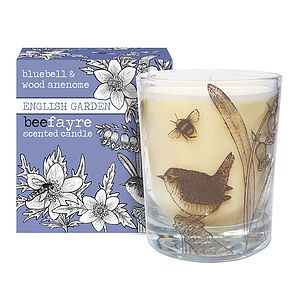 Bluebell And Anemone Scented Candle - lights & candles