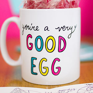'You're A Very Good Egg' Mug - crockery & chinaware