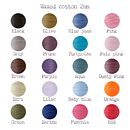Colour chart cotton woaxed cord