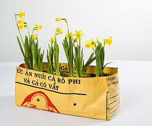 Fairtrade Recycled Rice Bag Window Box - garden essentials
