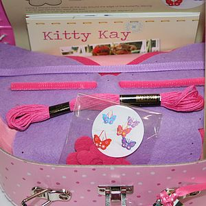 'Make & Sew' Sewing Box With Butterfly Kit - sewing boxes