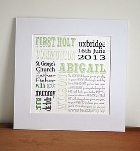Personalised Holy Communion Print