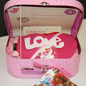 'Make & Sew' Sewing Box With Love Heart Kit - wedding thank you gifts