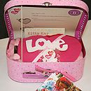 Love Heart Or Dog Sewing Craft Kit Gift Box