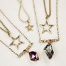 Triple Chain Swarovski Star Necklace
