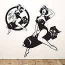 Pin Up 'Big Bessy' Wall Sticker
