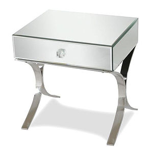 Iconic Mirrored Bedside Table - furniture