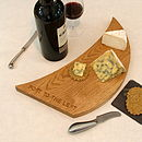 sail-inspired cheese board