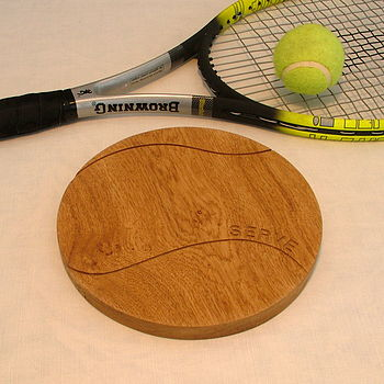 round oak chopping board