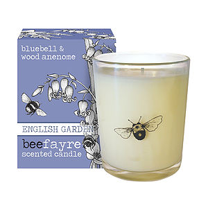Bluebell And Anenome Scented Votive Candle - table decorations