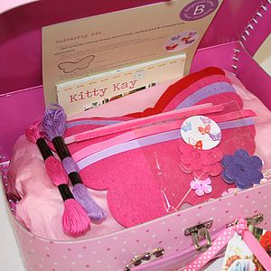 'Make & Sew' Sewing Box With Butterfly Kits - sewing & knitting