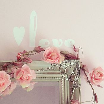 'Love' And Heart Wall Stickers