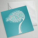 Set Of Four Illustrated Tree Greetings Cards (Cornish Tree)