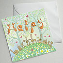 Set Of Five Illustrated Birthday Cards (Woodland Birthday)