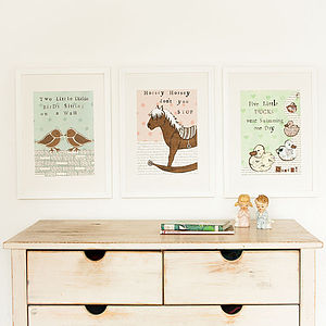 Nursery Rhyme Art - Set Of Three - posters & prints