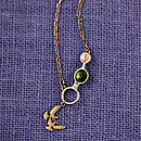 Circle Necklace Made With Swarovski Crystals