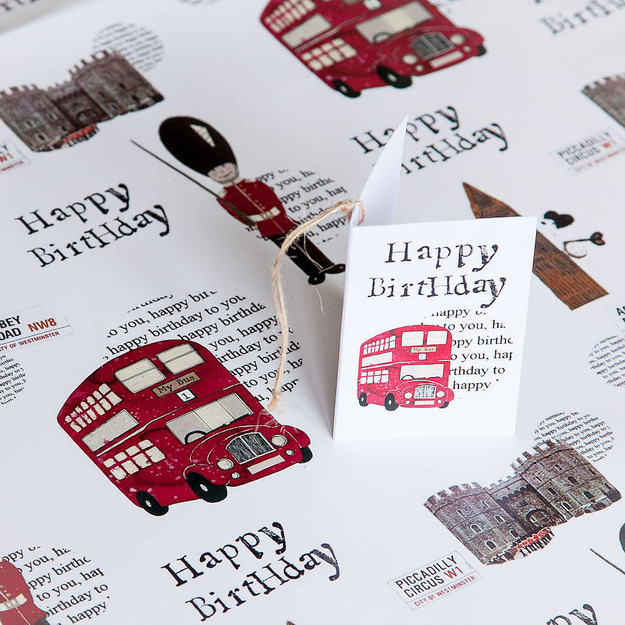 London Gift Wrap By Helena Tyce Designs