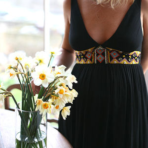 Kenya Hand Beaded Tulip Dress - dresses & skirts