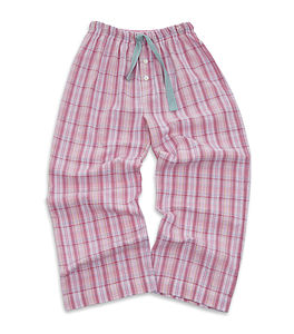 Older Girl's Lounge Check Pants - children's clothing