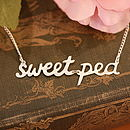 Personalised Handmade Silver Words Necklace