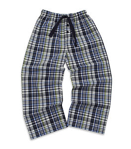 Older Boy's Check Woven Lounge Pants - nightwear