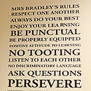 Personalised Teacher Class Rules Wall Sticker