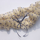 Polkadot Silk Wedding Garter