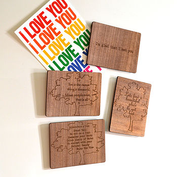 Wooden Magnet Greeting Card